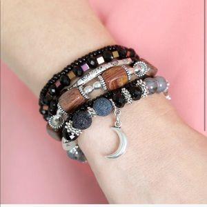 New Luxe Label Crescent Moon Bracelet Stack